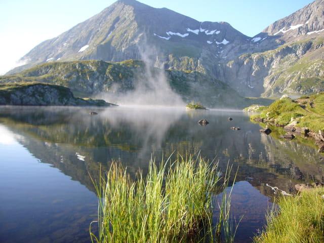Brume sur le lac Fourchu