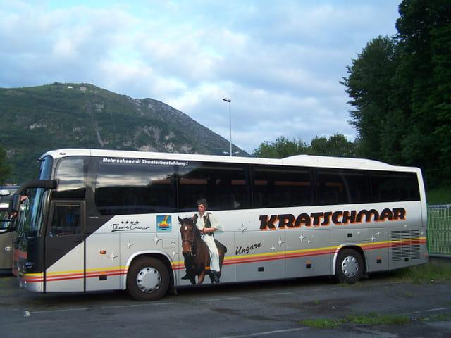 Bus de tourisme européen.
