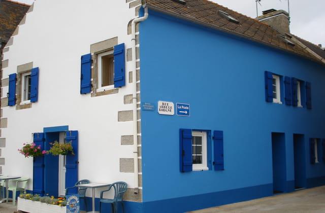 C'est un maison bleue