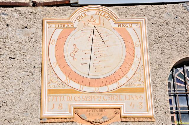 Cadran solaire d'Entraigues ( Savoie )