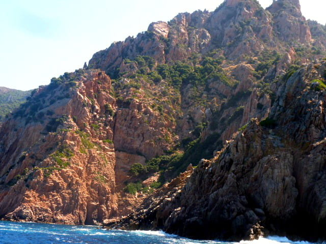 Calanches de Piana vues de la mer