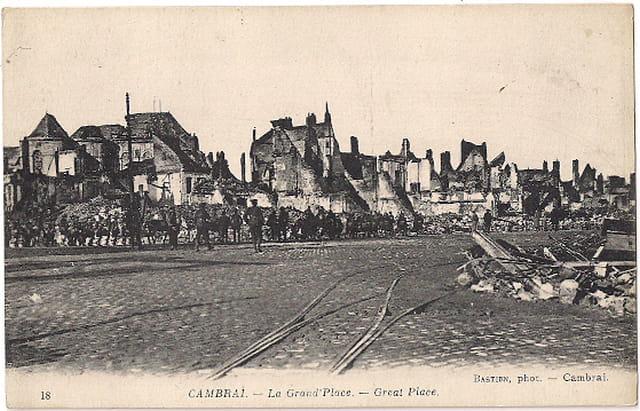 Cambrai - La Grand'Place - Ruines 1914