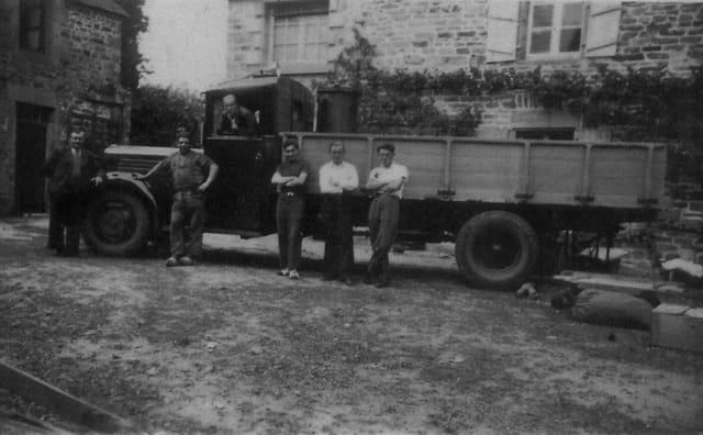 Camion au gaz