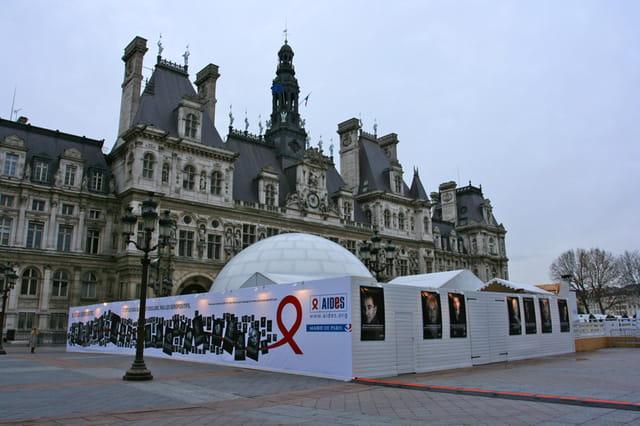 Campagne d'AIDES contre le SIDA à Paris
