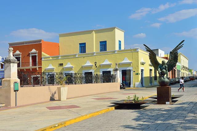 Campeche, une ville belle et tranquille.