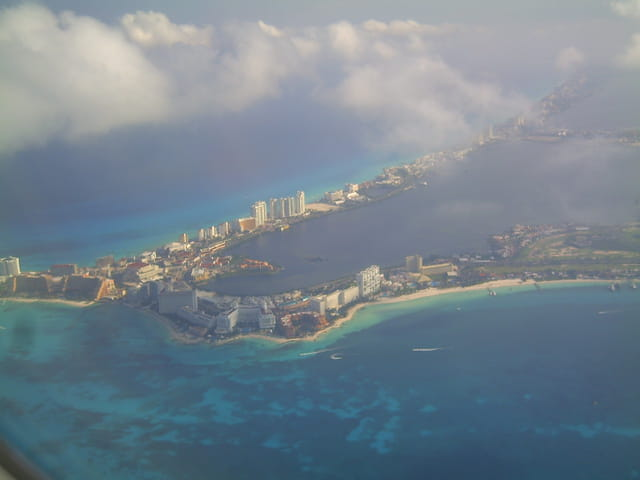 Cancun vu du ciel