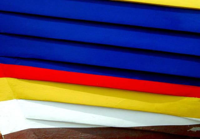 Canot en couleurs