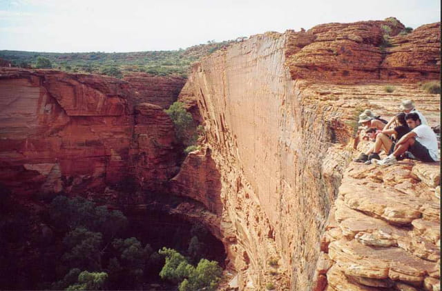 Canyon dans le désert Australien