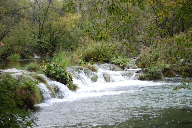 cascade dans la nature sauvage