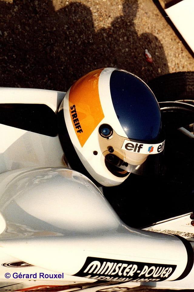Casque de Ph Streiff Montlhéry septembre 1985