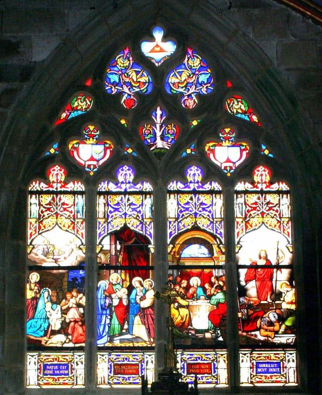 Cathédrale de ST POL de LEON, vitrail