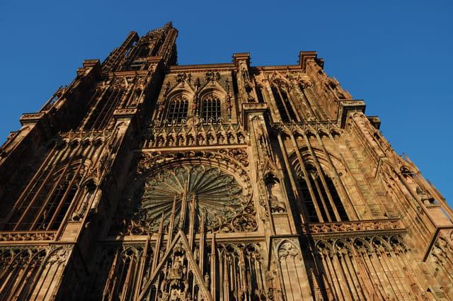 Cathédrale de Strasbourg au couchant