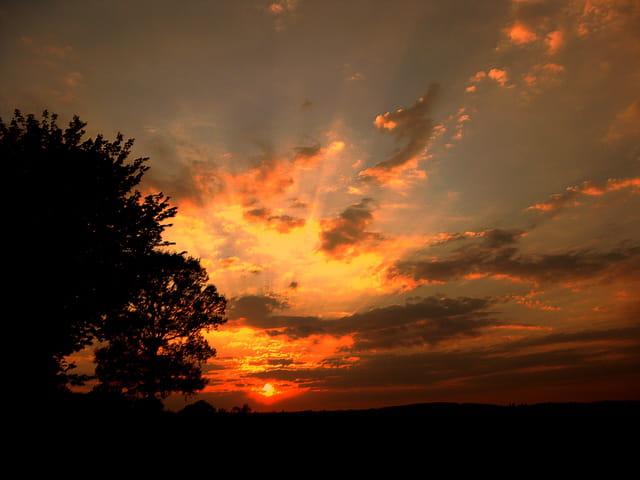 ce soir là, le ciel était flamboyant