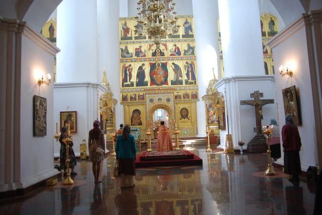 cérémonie religieuse à la Cathédrale de La Dormition