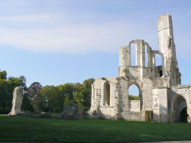 Chaalis - les ruines de l'église abbatiale