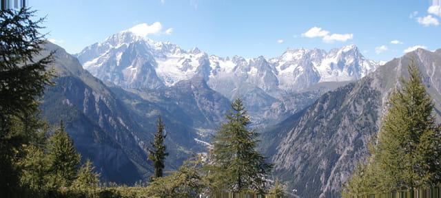 Chaine du mont blanc, coté italien