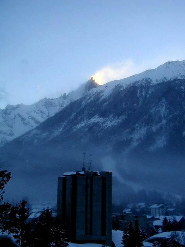 Chamonix lever soleil 2