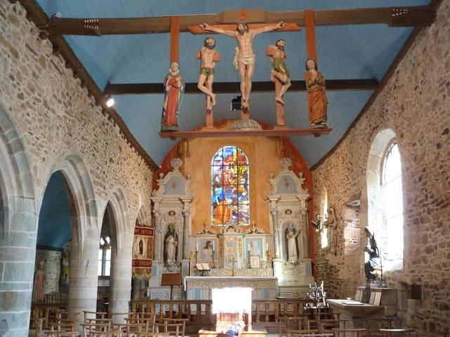 Chapelle Saint Antoine à Tressignaux, Côtes d'Armor.