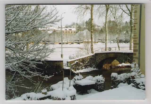 Charolles sous la neige