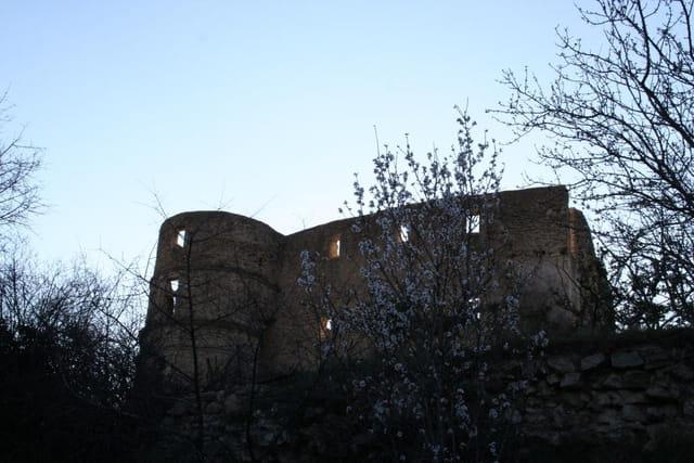 Chateau au soleil couchant
