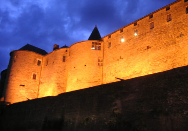 Château de sedan by night