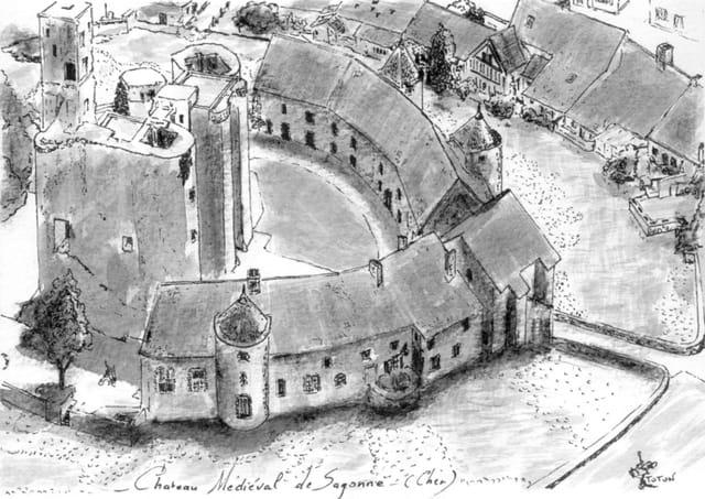 Chateau médiéval de Sagonne