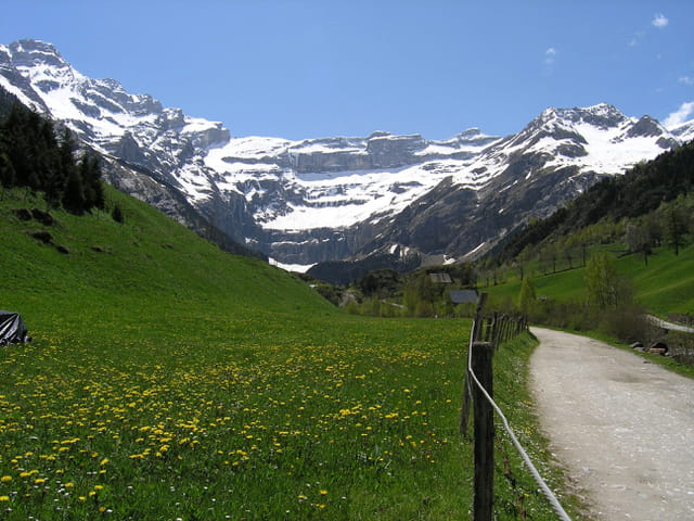 Chemin vers Gavarnie