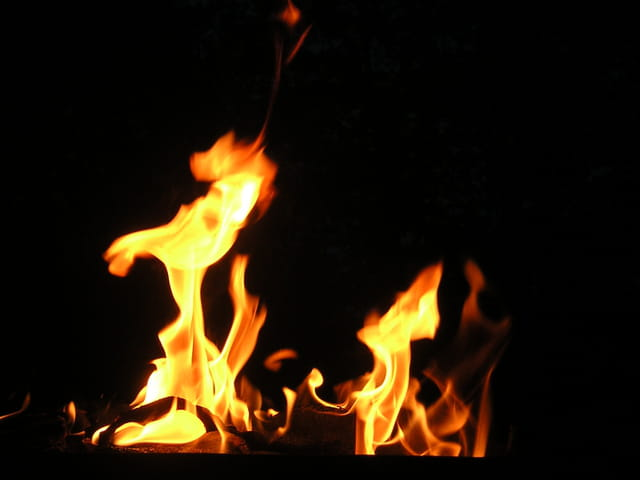 Cheval enflammé