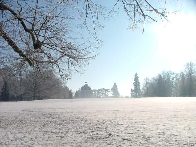 Cheverny sous la neige