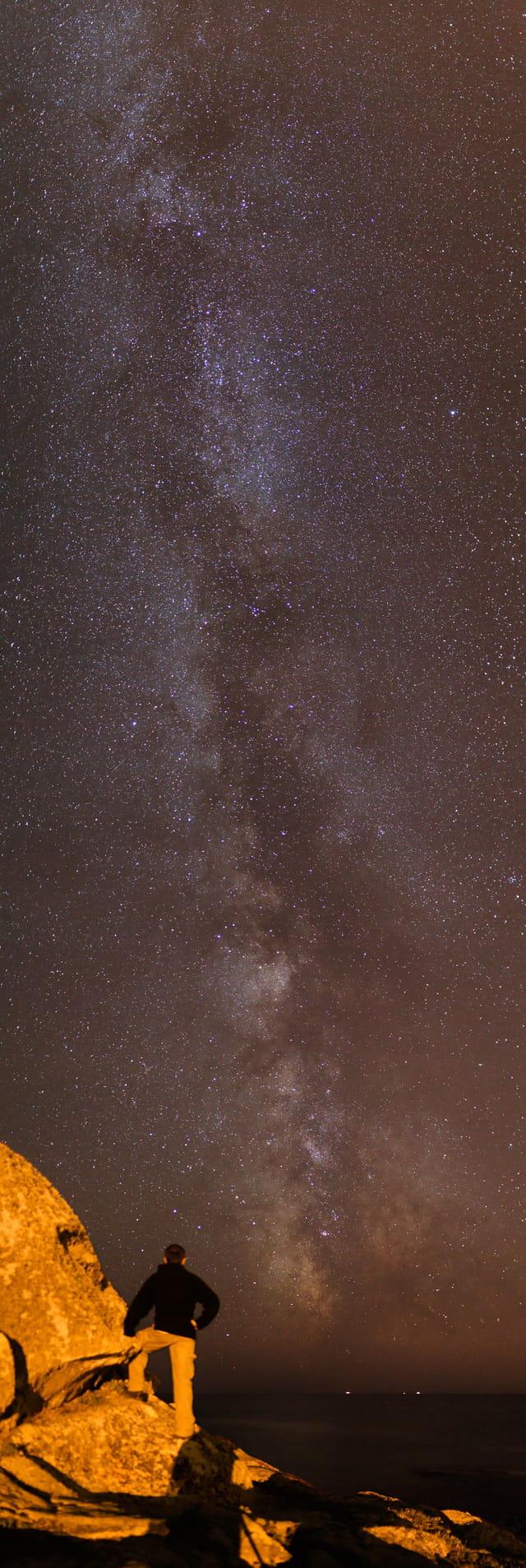Christophe face aux étoiles