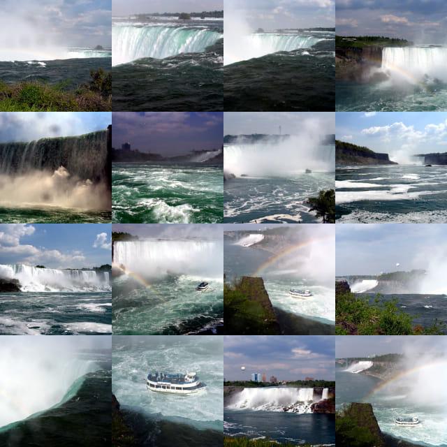 Chutes en cascade