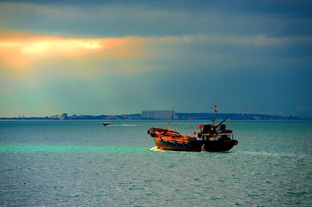 Ciel chargé sur la Mer de Marmara