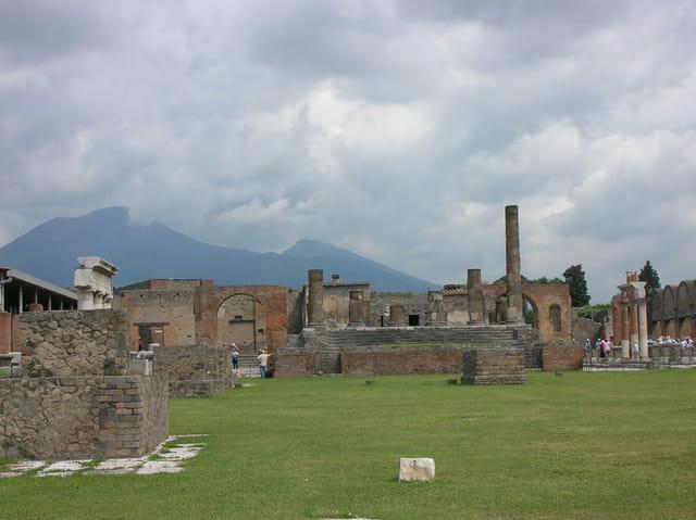 Ciel gris à Pompéi