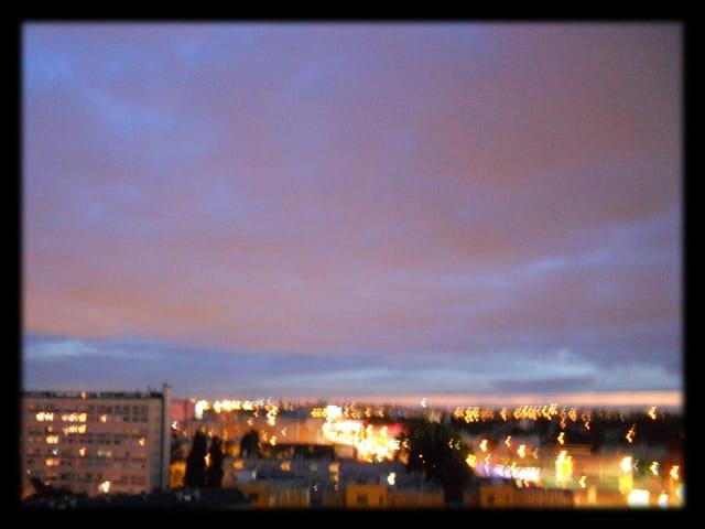 Ciels d?île-de-France 15 - Coucher de soleil sur ciel d?orage