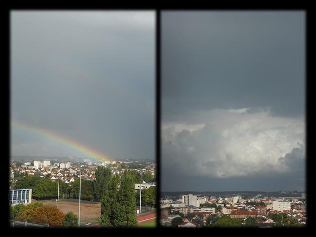 Ciels en �le-de-France 20 - Arc-en-ciel et Ciel d orage