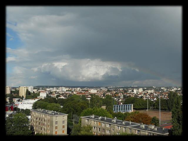 Ciels en �le-de-France 25 - Arc-en-ciel et Ciel d orage