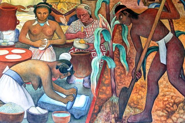 Civilisation Huaxtèque, scène de vie.