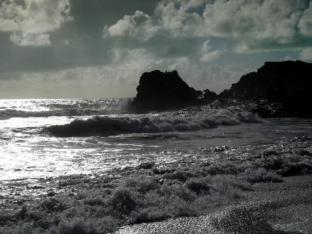 Clair obscur en bord de mer