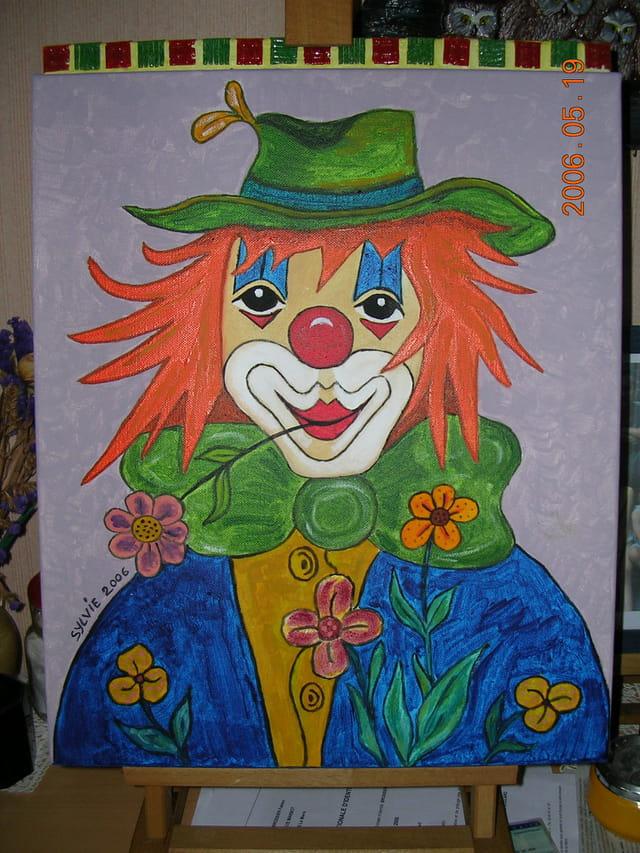 Clown a la fleur