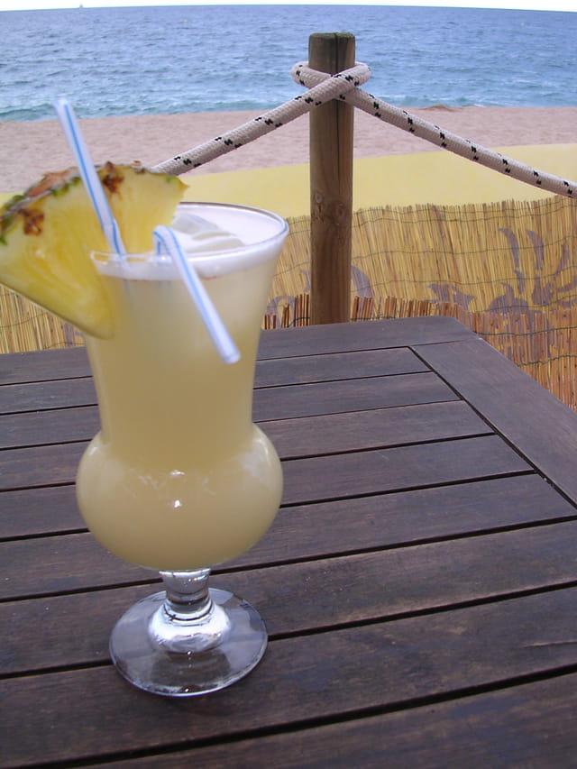 Cocktail en bord plage