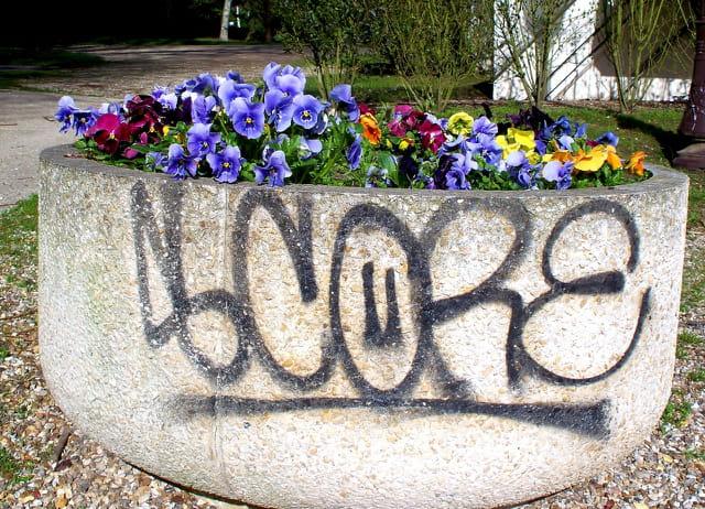 Codes barre sur bac à fleur