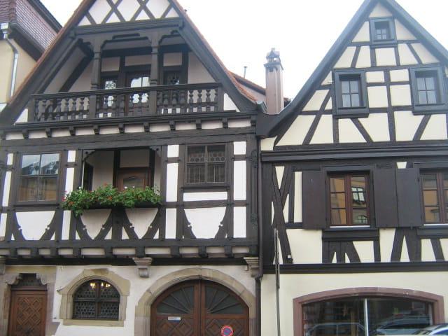 Colombages à Obernai