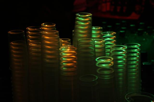 Colonnes de verres