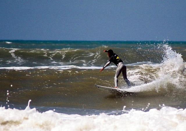 compétition de surf à Lacanau 2005