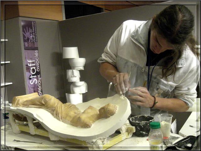 Confection d'un moule en sculpture