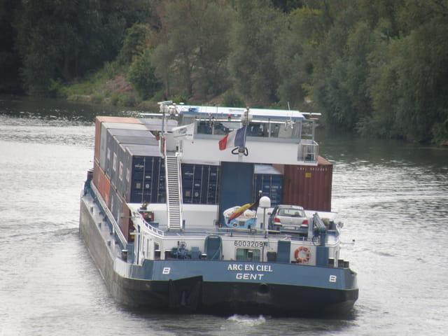Containers en provenance du Havre