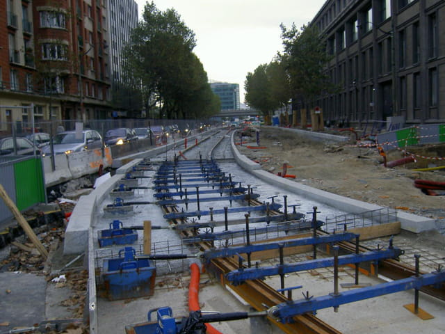 Contruction tramway