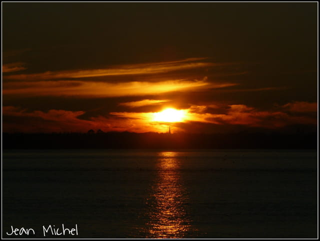 Couché de soleil à Blaye