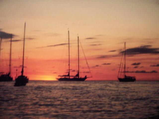 Couché de soleil en Guadeloupe
