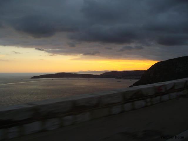 Couché de soleil sur Cap Martin